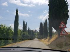 Driving up to Castello di Casigliano in Umbria
