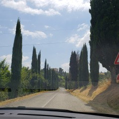 Driving up to Castello di Casigliano in Umbria