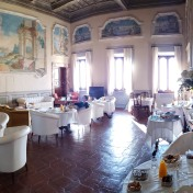 this is the breakfast room! Can you see a tiny Marina? Nick took this panoramic photo