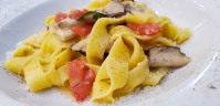 House-made tagliatelle with fresh porcini mushrooms, amazing!