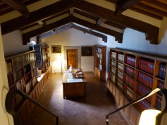 our room entrance is in a library!
