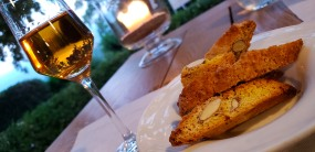 vinsanto (typical Tuscan sweet wine) and cantucci (amazing almond biscotti), all made on the premises