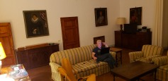 Internet was slow in our room so we came to the lounge at night and worked from here