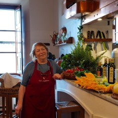 I wish we could have stayed one more day so I could take a cooking class from this amazing lady in this gorgeous kitchen!