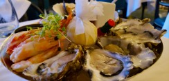 Best of the Seas Appetizer: British & Irish Oysters Keltic Seafare Scallops & Bering Sea King Crab Mediterranean Prawns Cornish Crab & Avruga Caviar