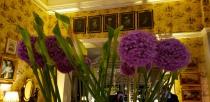 The flower arrangements!