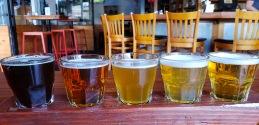 beer flight - all German draft beers