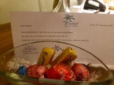 welcome chocolates!!!
