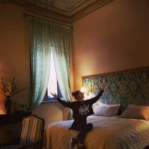 Our room at Palazzo Carletti