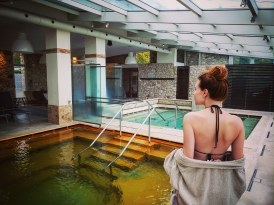 Hot springs pool at Albergo Le Terme