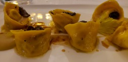 Rabbit ravioli with truffle and celeriac cream