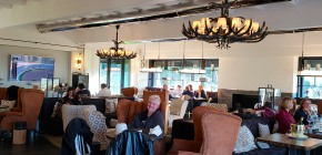 Lunching at the Clubhouse