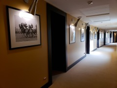 our hallway was lined with old-timey Italian golf photos :)
