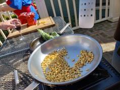 roasting pine nuts